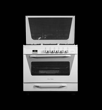 تصویر از اجاق گاز 5 شعله فر دار لعاب سفید مدل اتا 999